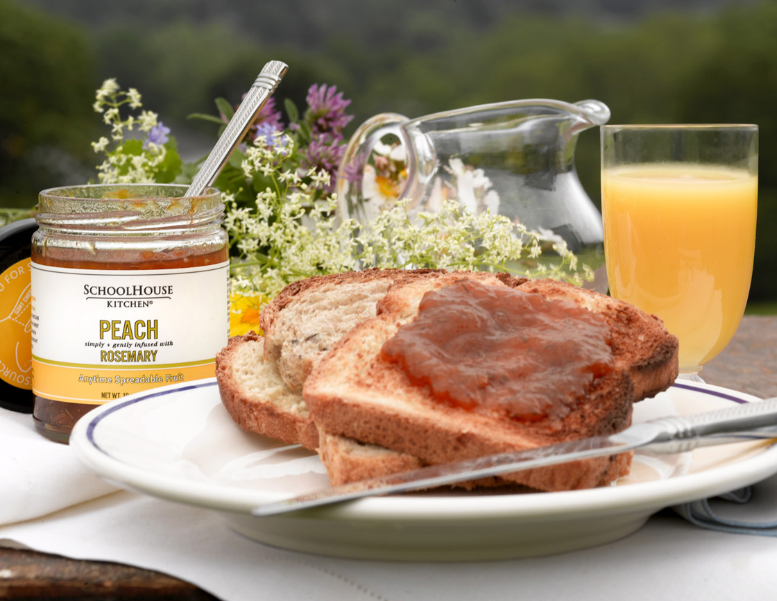 SchoolHouse Kitchen Peach Rosemary Anytime Spreadable Fruit