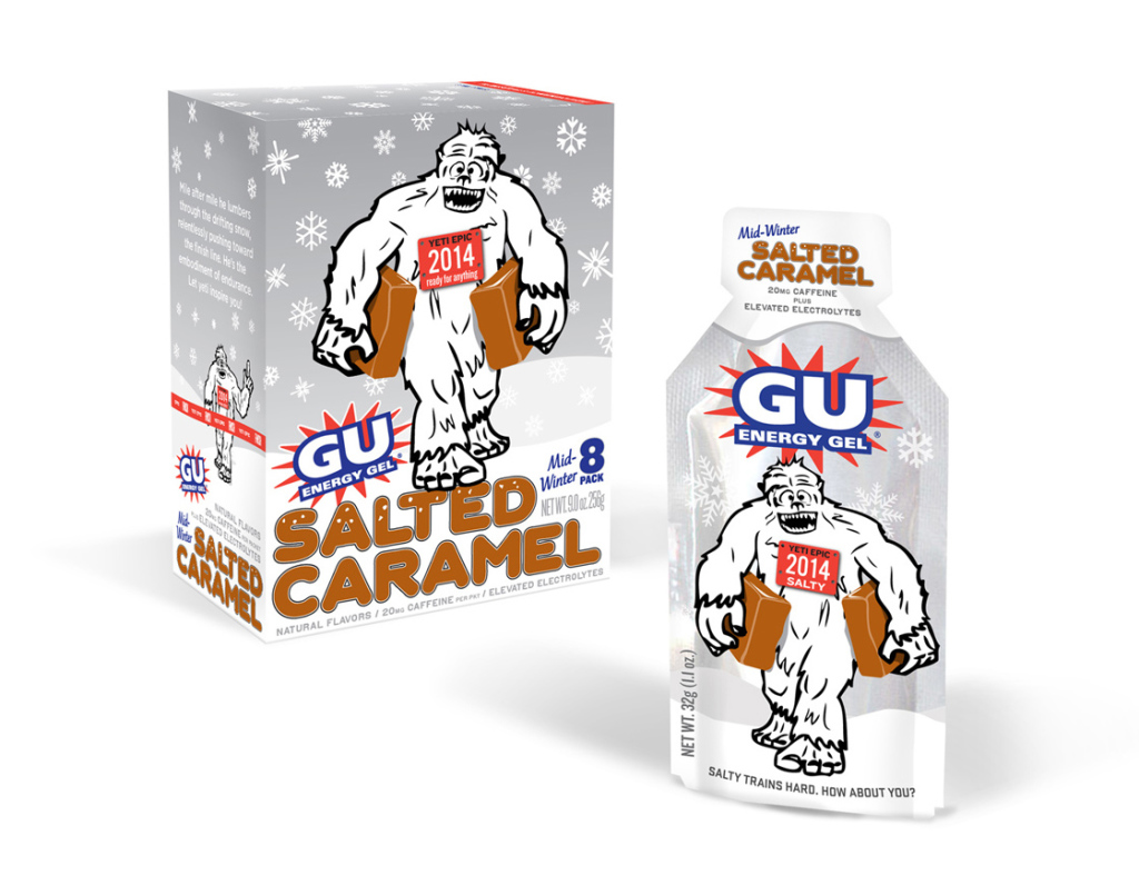 Bring out Salty the Caramel Yeti to pitch this new flavor as a winter holiday edition. Early tests proved so popular that Salty showed up six months early and sales took off immediately.